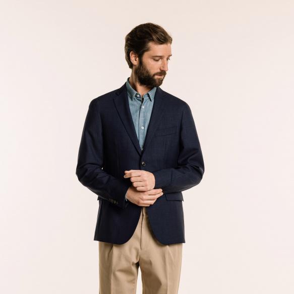 Veste en laine froide bleue
