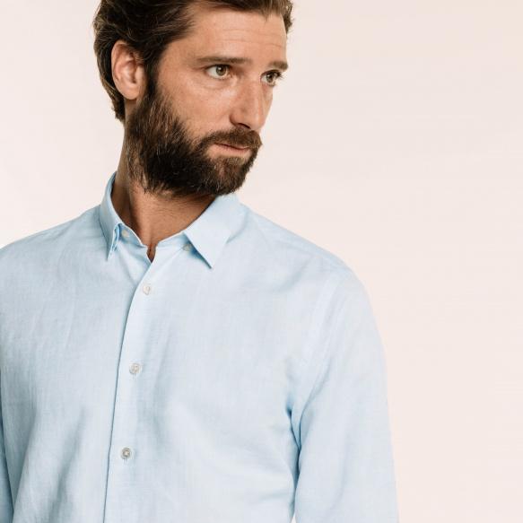Classic fit light blue...