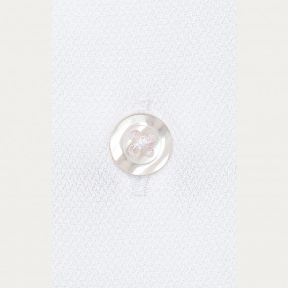 Chemise cintrée en dobby blanche