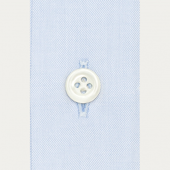 Chemise premium classique en pinpoint bleue