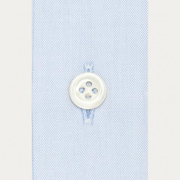 Chemise premium cintrée pinpoint bleue