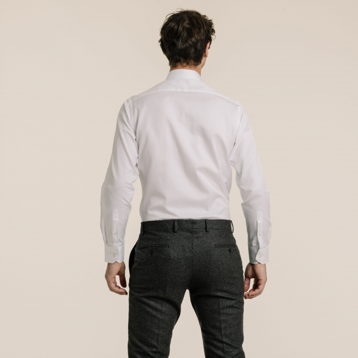 Classif fit white dobby shirt
