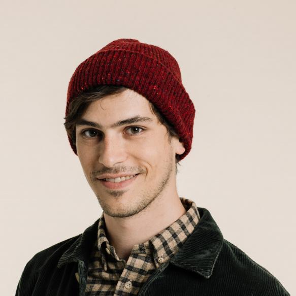 Heathered burgundy cap
