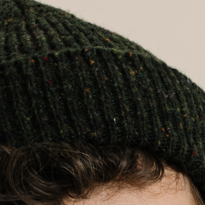 Heathered green cap
