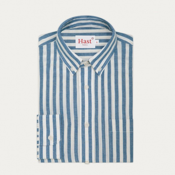 Blue and white stripes...