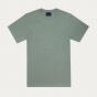 Sage green organic cotton and linen T-shirt