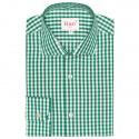 Chemise Extra-Ajustée à Grands Carreaux Verts
