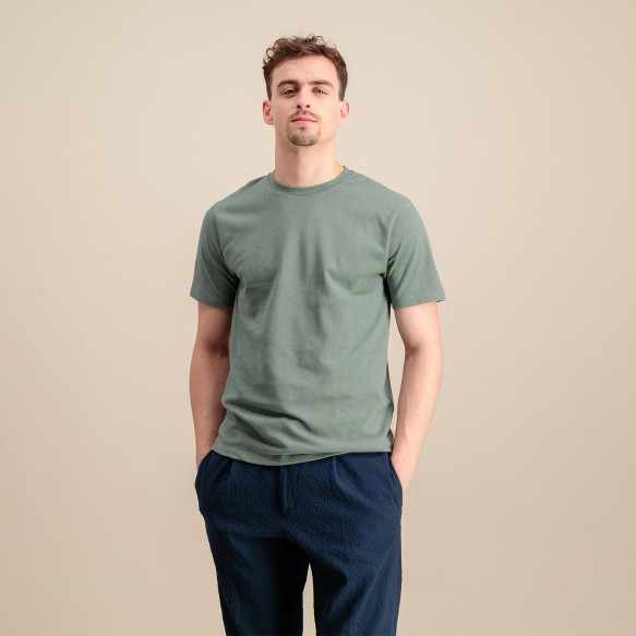 Sage green organic cotton...