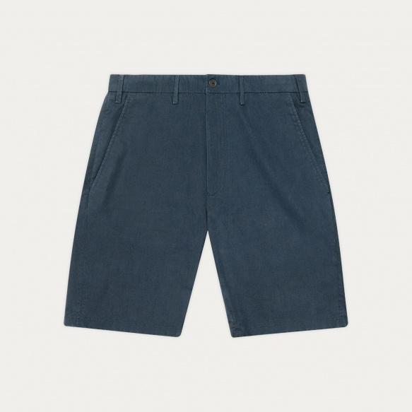 Short en coton biologique bleu