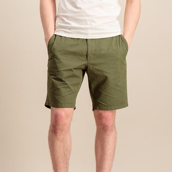 Short en coton biologique kaki