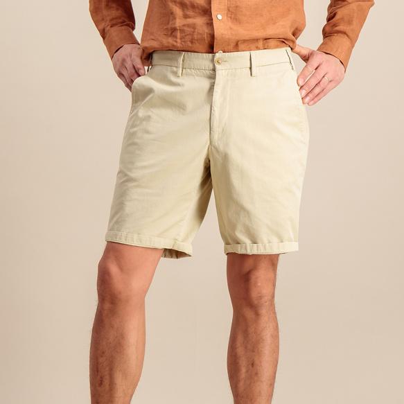 Short en coton biologique beige