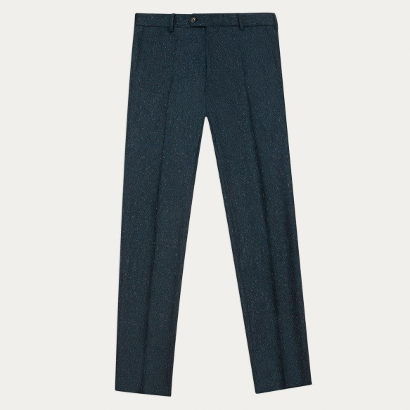 Blue chipped flannel pants