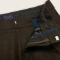Pantalon à pinces en flanelle de laine marron