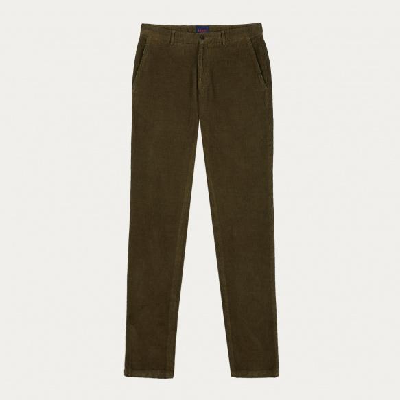 Khaki corduroy chino pants